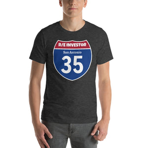 Real Estate Interstate Investor Series (I-35 San Antonio) Short-Sleeve Unisex T-Shirt