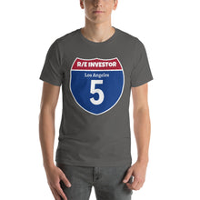 Load image into Gallery viewer, Real Estate Interstate Investor Series (I-5 Los Angeles) Short-Sleeve Unisex T-Shirt