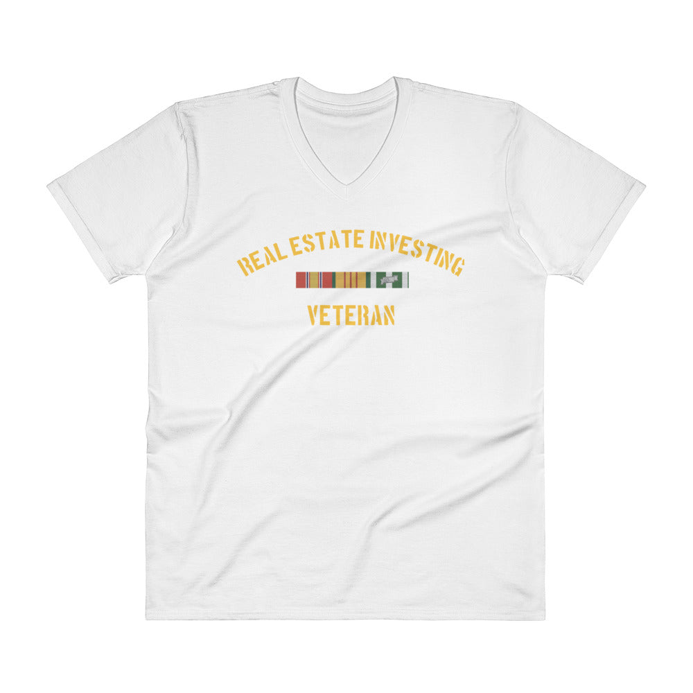 Real Estate Investing Veteran V-Neck T-Shirt