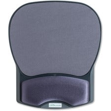 "Compucessory Gel Wrist Rest with Mouse Pads - 8.7"" x 10.2"" x 1.2"" Dimension - Charcoal - Gel, Lycra"