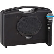 AmpliVox Wireless Handheld Audio Portable Buddy - 50 W Amplifier - Built-in Amplifier - 1 x Speakers - 4 Audio Line In - Battery Rechargeable - 200 Hour