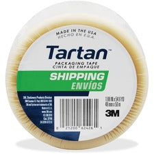"Tartan General-Purpose Packaging Tape - 54.60 yd Length x 1.88"" Width - 1.9 mil Thickness - 3"" Core - Synthetic Rubber Resin - 1.90 mil - Rubber Resin Backing - 1 / Roll - Clear"