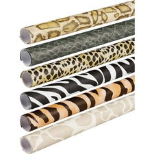 "Fadeless Safari Print Roll - Table Skirting, Display, Bulletin Board, Classroom, Decoration, Scrapbooking, Art, Craft - 24"" x 96"" - 6 / Carton - Assorted - Paper"