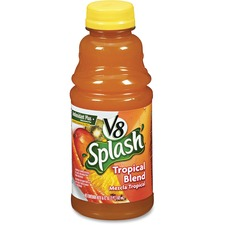 V8 Splash Fruit Juice - Tropical Flavor - 16 fl oz (473 mL) - 12 / Carton