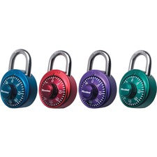 "Master Lock Assorted Numeric Combination Locks - 3 Digit - Master Keyed - 0.82"" Shackle Diameter - Cut Resistant - Stainless Steel Body - Assorted - 1 / Each"