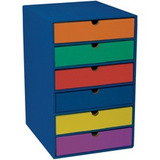 "Classroom Keepers 6-Shelf Organizer - 17.8"" Height x 13.5"" Width x 12"" Depth - Recycled - Blue - 1Each"
