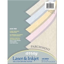 "Pacon Parchment Paper - Letter - 8.50"" x 11"" - 24 lb Basis Weight - 100 Sheets/Pack - Parchment Paper - 5 Assorted Colors"