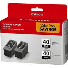 Canon PG-40 Original Ink Cartridge - Inkjet - Black - 2 / Pack
