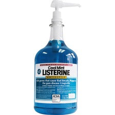 LISTERINE® COOL MINT Antiseptic Mouthwash - For Plaque, Gingivitis, Bad Breath - Mint - 1 gal - 1 Each