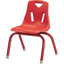"Berries Stacking Chair - Steel Frame - Four-legged Base - Red - Polypropylene - 19.5"" Width x 21"" Depth x 29.5"" Height - 1 Each"