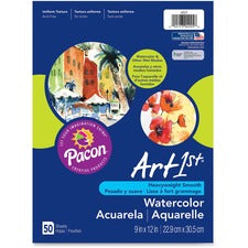 "Art1st Fine Art Paper - 9"" x 12"" - 90 lb Basis Weight - Recycled - 10% Recycled Content - Vellum - 50 / Pack - White"