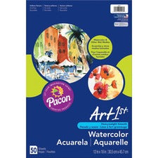 "Art1st Fine Art Paper - 12"" x 18"" - 90 lb Basis Weight - Recycled - 10% Recycled Content - Vellum - 50 / Pack - White"