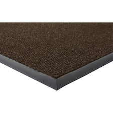 "Genuine Joe Ultraguard Indoor Wiper Mats - Hard Floor - 72"" Length x 48"" Width - Rubber - Chocolate"