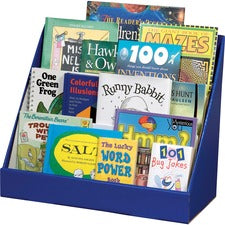 "Classroom Keepers Classroom Keeper's Corrugated Book Shelf - 3 Tier(s) - 17"" Height x 20"" Width x 10"" Depth - Recycled - Blue - 1Each"