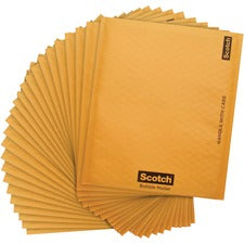 "Scotch Bubble Mailers - Bubble - #2 - 8 1/2"" Width x 12"" Length - Self-adhesive Seal - Kraft Paper - 25 / Carton - Tan"