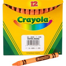 Crayola Bulk Crayons - Orange - 12 / Pack