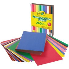 "Crayola Construction Paper - Craft Project, School Project, Art - 9"" x 12"" - 240 / Pack - Assorted"