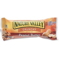 NATURE VALLEY Nature Valley Peanut Butter Granola Bars - Peanut Butter, Crunch - 1 Serving Pouch - 1.50 oz - 18 / Box