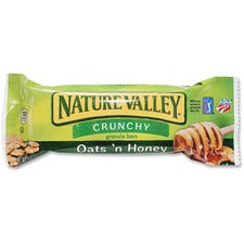 NATURE VALLEY Oats/Honey Granola Bar - Crunch, Honey Touched Oat - 1.50 oz - 18 / Box