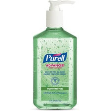 PURELL® Instant Hand Sanitizer with Aloe - 12 oz - Pump Bottle Dispenser - Kill Germs - Hand, Skin - Clear - Non-sticky, Residue-free - 1 Each