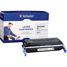 Verbatim Remanufactured Laser Toner Cartridge alternative for HP C9720A Black - Black - Laser - 9000 Page - 1 Each