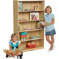 "ECR4KIDS Birch Classic Bookcase - 5 Compartment(s) - 60"" Height x 36"" Width12"" Length - Wall Mountable - Natural Birch - Birch Plywood - 1Each"