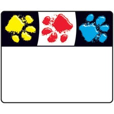 "Trend Paw Print Name Tags - 2.50"" Length x 3"" Width - 36 / Pack - Assorted"