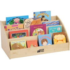"ECR4KIDS Birch Toddler Book Display - 14"" Height x 16"" Width30"" Length - Brown - Wood - 1Each"