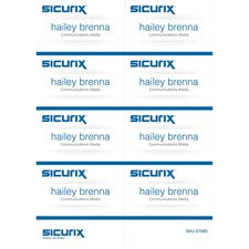 "SICURIX Name Badge Kit Insert - 56 / Pack - 2.3"" Width x 3.5"" Height - Micro Perforated - White"