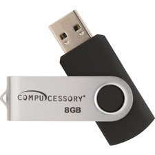 Compucessory Password Protected USB Flash Drives - 8 GB - USB 2.0 - Aluminum - 1Each - Password Protection