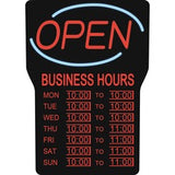"Royal Sovereign Business Hours Open Sign - 1 Each - Open, Business Hour Print/Message - 16"" Width x 24"" Height - Rectangular Shape - Blue"