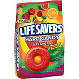 Life Savers 5 Flavors Hard Candy Bag - 2 lb. 9oz. - Cherry, Raspberry, Watermelon, Orange, Pineapple - Individually Wrapped - 2.56 lb - 1 / Bag