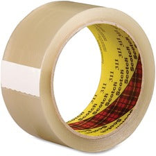 "Scotch 311 Box Sealing Tape - 1.88"" Width x 109.30 yd Length - 3"" Core - Synthetic Rubber Resin - Acrylic Backing - Adhesive, Durable - 36 / Carton - Tan, Transparent"