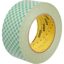 "3M Double-Coated Paper Tape - 2"" Width x 36 yd Length - 3"" Core - Kraft - Rubber Backing - Double Coated, Adhesive - 1 Roll - Natural"