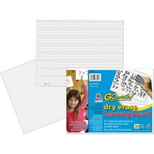 "GoWrite!® Dry Erase Learning Board - Dry-erase, Two-Sided, 3/4"" Rule/Plain - 11"" Width x 8.25"" Height - White Surface - Rectangle - No - 30 / Pack"