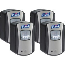 PURELL® LTX-7 Hands-free Sanitizer Dispenser - Automatic - 23.67 fl oz Capacity - Chrome Black - 4 / Carton