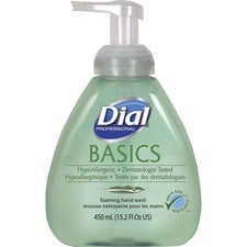 Dial Basics HypoAllergenic Foam Hand Soap - Fresh Scent Scent - 15.20 oz - Pump Bottle Dispenser - Hand - Green - Hypoallergenic - 4 / Carton