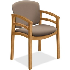 "HON Invitation Guest Chair, Fixed Arms - Morel Seat - Morel Back - Hardwood Frame - Four-legged Base - 20"" Seat Width x 17.50"" Seat Depth - 23.5"" Width x 18.5"" Depth x 33.1"" Height - 1 Each"