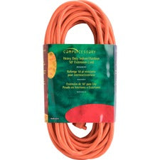 Compucessory Heavy-duty Indoor/Outdoor Extsn Cord - 16 Gauge - 125 V DC / 13 A - Orange - 50 ft Cord Length - 1