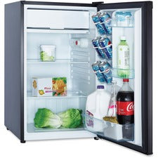 Avanti RM4416B 4.4 cubic foot Refrigerator - 4.40 ft³ - Manual Defrost - Reversible - 4.40 ft³ Net Refrigerator Capacity - 228 kWh per Year - Black - Built-in