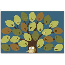 "Carpets for Kids Owl-phabet Tree Woodland Rug - 72"" Length x 48"" Width - Rectangle"