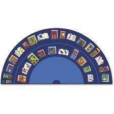 "Carpets for Kids Reading/The Book Semi-circle Rug - Area Rug - 13.33 ft Length x 80"" Width - Half Circle"