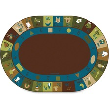 "Carpets for Kids Learning Blocks Nature Oval Rug - 11.67 ft Length x 99"" Width - Oval"