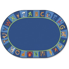 "Carpets for Kids A to Z Animals Oval Area Rug - Area Rug - 11.67 ft Length x 99"" Width - Oval"