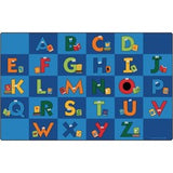"Carpets for Kids Reading Letters Library Rug - 13.33 ft Length x 100"" Width - Rectangle"