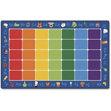 "Carpets for Kids Fun With Phonics Rectangle Rug - 12 ft Length x 90"" Width - Rectangle"