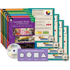 Shell Education Mathematics Leveled Texts Book Set Printed/Electronic Book - Shell Educational Publishing Publication - Book, CD-ROM