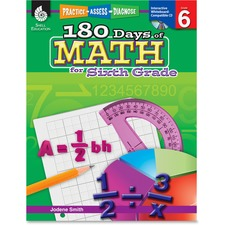 Shell Education 18 Days of Math for 6th Grade Book Education Printed/Electronic Book for Mathematics by Jodene Smith - English - Published on: 2011 April 01 - Book, CD-ROM - 208 Pages