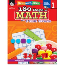 Shell Education Education 18 Days of Math for 1st Grade Book Printed/Electronic Book by Jodene Smith - Shell Educational Publishing Publication - April 2011 - Book, CD-ROM - Grade 1 - English