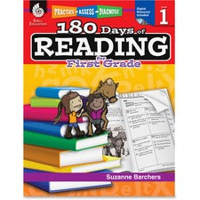 Shell Education 18 Days of Reading 1st-Grade Book Education Printed/Electronic Book by Suzanne Barchers, Ed.D. - CD-ROM, Book - 240 Pages
